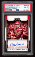 Patrick Mahomes 2017 Playoff Rookie Autographs #7 (PSA 8) at PristineAuction.com