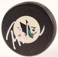 Peter DeBoer Signed Sharks Logo Hockey Puck (JSA COA) at PristineAuction.com