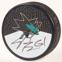Justin Braun Signed Sharks Logo Hockey Puck (JSA COA) at PristineAuction.com