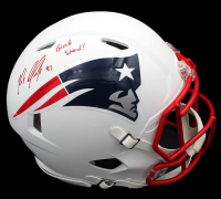 """Rob Gronkowski Signed Patriots Full-Size Authentic On-Field Matte White Speed Helmet Inscribed """"Gronk Smash!"""" (Radtke COA) at PristineAuction.com"""