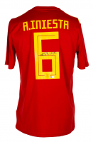 Andres Iniesta Signed Team Spain Adidas Jersey (Beckett COA) at PristineAuction.com