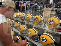"Brett Favre Signed Packers Full-Size Authentic On-Field Helmet Inscribed ""HOF 16"" (Radtke COA) at PristineAuction.com"