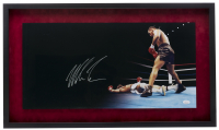 Mike Tyson Signed 17x30 Custom Framed Panoramic Photo Display (JSA COA) at PristineAuction.com