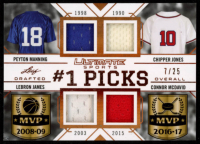 2019 Leaf Ultimate Sports Ultimate #1 Picks Materials Bronze Spectrum Foil #1P04 Peyton Manning / Chipper Jones / LeBron James / Connor McDavid at PristineAuction.com