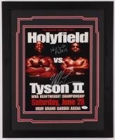 Mike Tyson & Evander Holyfield Signed 18x22 Custom Framed Photo Display (JSA Hologram) at PristineAuction.com