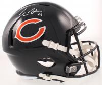 Cole Kmet Signed Bears Full-Size Speed Helmet (Beckett COA) at PristineAuction.com
