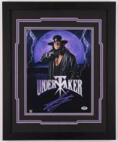 The Undertaker Signed WWE 18x22 Custom Framed Photo Display (PSA Hologram) at PristineAuction.com