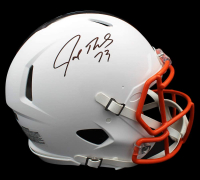 Joe Thomas Signed Browns Full-Size Authentic On-Field Matte White Speed Helmet (Radtke COA) at PristineAuction.com
