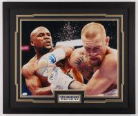 Floyd Mayweather Jr. Signed 22x26 Custom Framed Photo Display (JSA COA) at PristineAuction.com