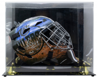 "Grant Fuhr Signed Oilers Full-Size Goalie Mask Inscribed ""HOF 03"" With Display Case (JSA COA) at PristineAuction.com"