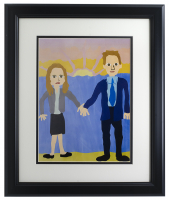 """The Office"" Jim & Pam Halpert Wedding Painting 11x14 Custom Framed Print Display at PristineAuction.com"