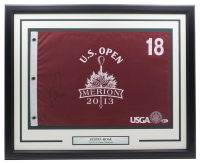 Justin Rowe Signed 2013 Merion U.S. Open 20x30 Custom Framed Pin Flag Display (Beckett COA) at PristineAuction.com
