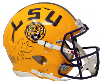 "Joe Burrow Signed LSU Tigers Full-Size Authentic On-Field Speed Helmet Inscribed ""19 Champs"" (Fanatics Hologram) at PristineAuction.com"