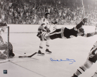 """Bobby Orr Signed Bruins """"The Flying Goal"""" 16x20 Photo (Orr COA) (See Description) at PristineAuction.com"""