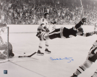 "Bobby Orr Signed Bruins ""The Flying Goal"" 16x20 Photo (Orr COA) (See Description) at PristineAuction.com"