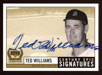 Ted Williams 1999 Upper Deck Century Legends Epic Signatures Century #TW at PristineAuction.com