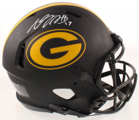 Davante Adams Signed Packers Full-Size Authentic On Field Eclipse Alternate Speed Helmet (JSA COA) at PristineAuction.com