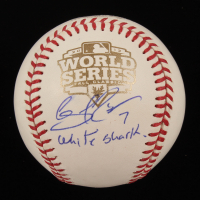 "Gregor Blanco Signed 2012 World Series Baseball Inscribed ""White Shark"" (PSA Hologram) at PristineAuction.com"