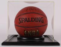 Kobe Bryant Signed NBA Ultimate Indoor Basketball With Display Case (Kings Community Foundation COA & JSA ALOA) at PristineAuction.com