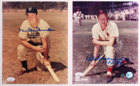 """Lot of (2) Signed Baseball 8x10 Photos with Duke Snider & Red Schoendienst Inscribed """"HOF 89"""" (JSA COA) at PristineAuction.com"""