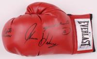 "Roberto Duran, Thomas ""Hitman"" Hearns & Sugar Ray Leonard Signed Everlast Boxing Glove (Beckett COA) at PristineAuction.com"