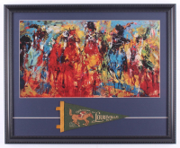 """LeRoy Neiman """"Kentucky Derby"""" 18.5x22.5 Custom Framed Print Display with Vintage Kentucky Derby Mini Pennant at PristineAuction.com"""