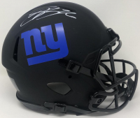Saquon Barkley Signed Giants Full-Size Authentic On-Field Eclipse Alternate Speed Helmet (Fanatics Hologram) at PristineAuction.com