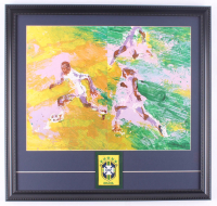 """Leroy Neiman """"Pele"""" 19x21 Custom Framed Print Display With Brazil National Team Patch at PristineAuction.com"""