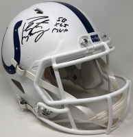 "Peyton Manning Signed Colts Full-Size Authentic On-Field Speed Helmet Inscribed ""SB XLI MVP"" (Fanatics Hologram) at PristineAuction.com"