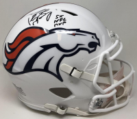 "Peyton Manning Signed Broncos Full-Size Authentic On-Field Speed Helmet Inscribed ""5X NFL MVP"" (Fanatics Hologram) at PristineAuction.com"