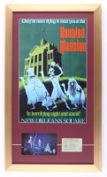 """Disneyland """"Haunted Mansion"""" 15x26 Custom Framed Print Display With Vintage Postcard & """"E"""" Ride Ticket at PristineAuction.com"""