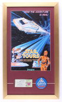 """Disneyland """"Star Tours"""" 15x26 Custom Framed Print Display With Lapel Pin & Vintage Ticket Book at PristineAuction.com"""