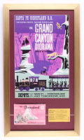 "Disneyland ""Grand Canyon Diorama"" 15x26 Custom Framed Print Display With Vintage Photo Portfolio & ""D"" Ride Ticket at PristineAuction.com"