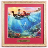 "Thomas Kinkade Walt Disney's ""The Little Mermaid"" 15.5x15.5 Custom Framed Print Display at PristineAuction.com"