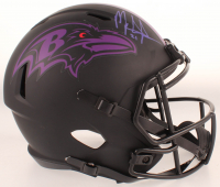 Mark Ingram Jr. Signed Ravens Eclipse Alternate Full-Size Speed Helmet (Beckett COA) at PristineAuction.com