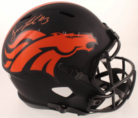 Drew Lock Signed Broncos Full-Size Eclipse Alternate Speed Helmet (JSA COA) at PristineAuction.com