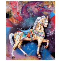 "Yankel Ginzburg Signed ""Carousel"" Limited Edition 33x40 Serigraph at PristineAuction.com"
