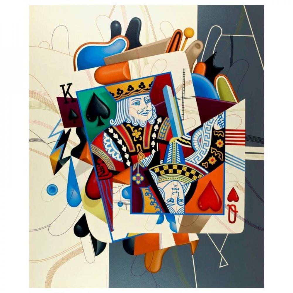 """Yankel Ginzburg Signed """"Royalty (King/Queen)"""" Limited Edition 30x36 Serigraph at PristineAuction.com"""