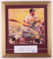 """LeRoy Neiman Signed """"Mickey Mantle"""" 14.5x16.5 Custom Framed Cut Display (PSA Hologram) at PristineAuction.com"""