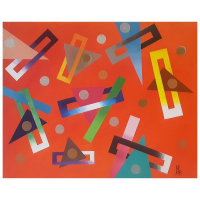 "George Marlowe Signed ""Geometrics"" 24x30 Original Acrylic Painting on Canvas at PristineAuction.com"