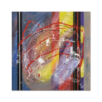 """George Marlowe Signed """"Verticals"""" 30x30 Original Acrylic Painting on Canvas at PristineAuction.com"""