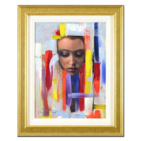 "Vincent Cacciotti Signed ""Dream In Color"" 16x21 Custom Framed Original Oil Painting on Canvas at PristineAuction.com"