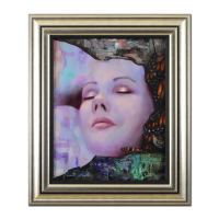 "Vincent Cacciotti Signed ""Whisper"" 22x26 Custom Framed Original Oil Painting on Canvas at PristineAuction.com"
