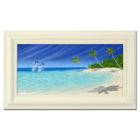 "Dan Mackin Signed ""The Luxury of Quiet Time"" 29x17 Custom Framed Original Oil Painting on Canvas at PristineAuction.com"