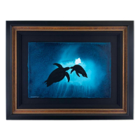 "Wyland Signed ""Mother Turtle"" 34x26 Original Painting at PristineAuction.com"