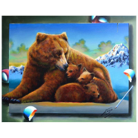 "Ferjo Signed ""Spreading the Love"" 22x28 Original Painting on Canvas at PristineAuction.com"