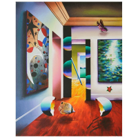 "Ferjo Signed ""Interior Miro Monet"" 28x22 Original Painting on Canvas at PristineAuction.com"