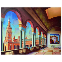 "Ferjo Signed ""Plaza De Espana"" 30x40 Original Painting on Canvas at PristineAuction.com"