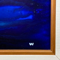 "Wyland Signed ""Warmth"" 45x33 Custom Framed Original Painting on Board at PristineAuction.com"