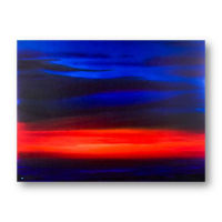"Wyland Signed ""Sunset Sea I"" 36x48 Original Painting on Canvas at PristineAuction.com"